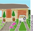 Vector Clip Art graphic  of a The front of the house