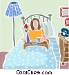 Breakfast in bed Vector Clipart picture