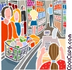 Industry, grocery or market shopping Vector Clipart picture