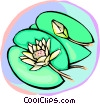 Vector Clip Art graphic  of a Lily pads