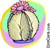 Cactus flowers Vector Clip Art picture