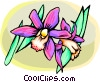 Vector Clipart illustration  of a Orchids