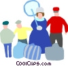 Vector Clip Art graphic  of a family