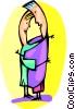 Vector Clip Art picture  of a Figures dancing