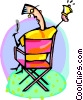 Vector Clipart picture  of a entertainment director in his