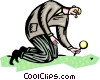 Vector Clipart graphic  of a Looking for clues