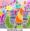 Big party with a band Vector Clipart image