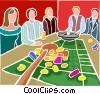 Vector Clip Art image  of a roulette game
