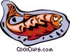 Vector Clipart image  of a Decorative fish