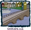 Vector Clip Art graphic  of a canal