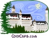 European buildings Vector Clipart graphic