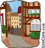 European buildings Vector Clip Art graphic