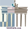 Vector Clipart graphic  of a Parthenon