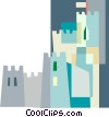 Vector Clip Art graphic  of a castle