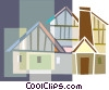 houses Vector Clipart illustration