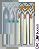 Vector Clipart picture  of a stained glass windows