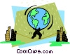 weight of the world on his shoulders Vector Clip Art picture