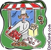 Vector Clipart graphic  of a Outdoor market