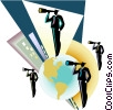 Vector Clipart illustration  of a Business people with
