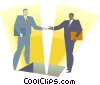 Vector Clip Art graphic  of a Two men shaking hands