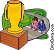 Vector Clipart graphic  of a competition