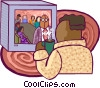 Tele-conferencing Vector Clipart picture