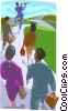 Vector Clip Art image  of a marching to the tune of a