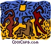 Vector Clipart graphic  of an African figurine motif