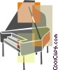Piano Vector Clipart graphic
