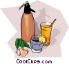 Vector Clip Art graphic  of a food and dining