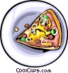 Food and dining, fast foods, pizza Vector Clip Art image