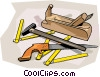 tools, workman's wood working tools Vector Clipart image
