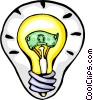 Vector Clipart picture  of a light bulb idea