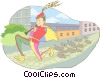 Vector Clip Art graphic  of a pied piper