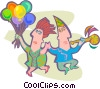 People partying Vector Clip Art picture