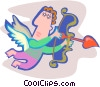 Vector Clipart picture  of an Angel with bow and arrow