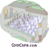 Vector Clipart picture  of a chess game