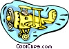 Vector Clipart graphic  of a biplane