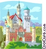 European Castle Vector Clipart illustration