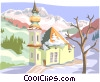 European house Vector Clip Art graphic