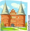 European castle Vector Clipart picture