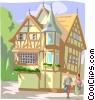 European Inn Vector Clipart image