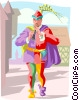 Vector Clip Art graphic  of a The Pied piper of Hamlin