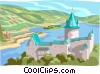 Vector Clipart picture  of a Fortress of Stahleck