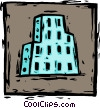 Vector Clipart graphic  of a building