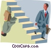 metaphor, business ups and downs Vector Clipart illustration