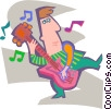 Man playing the guitar Vector Clipart illustration