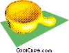 Vector Clip Art image  of a soap bowl