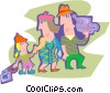 Vector Clip Art picture  of a family outing