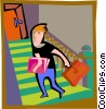 man climbing stairs Vector Clipart picture